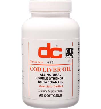 COD LIVER OIL 1,000 MG All Natural  Double Strength Norwegian Oil