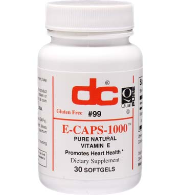 VITAMIN E Natural Pure d-alpha E-CAPS 1000