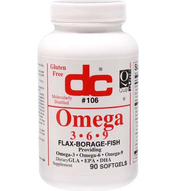 Omega-3 -6 -9 (Flax-Borage-Fish) ESSENTIAL OILS