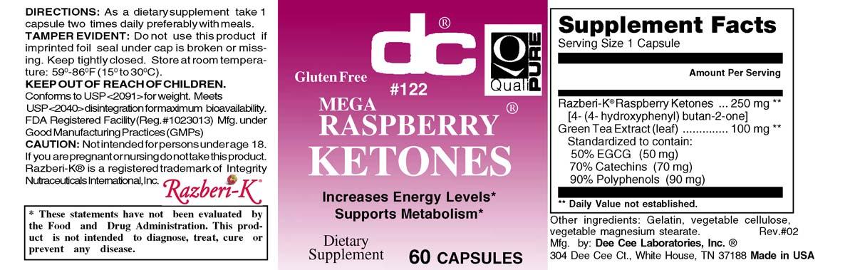 Mega Raspberry Ketones 250 Mg With Green Tea Egcg