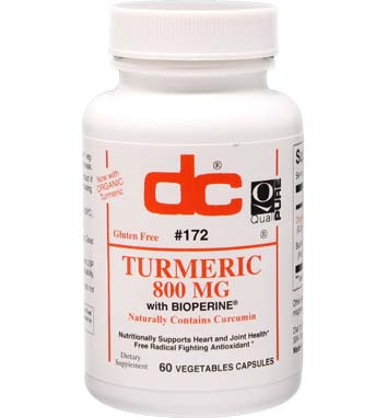 TURMERIC 800 mg with Bioperine Curcuma longa (root) Naturally Contains Curcumin
