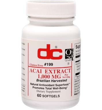 ACAI EXTRACT 1000 mg per serving Brazilian Harvested Acai Berries
