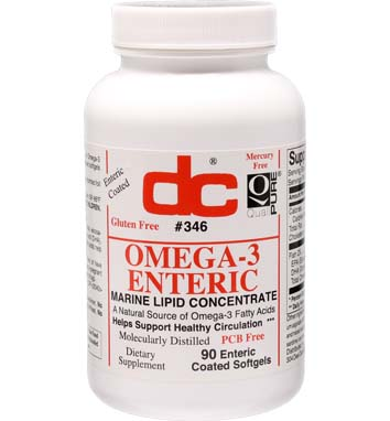 OMEGA-3 ENTERIC Enteric Coated FISH OIL 1000 MG Softgels No Fishy (burp-back)