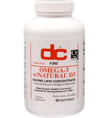 OMEGA -3 with NATURAL D3 FISH OIL 1200 MG