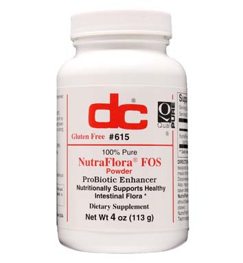 NUTRAFLORA FOS POWDER ProBiotic Enhancer 1,000 MG Per 1/4 Teaspoon