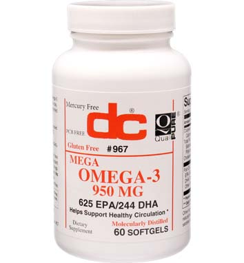 OMEGA-3 950 MG FISH OIL 1360 MG MEGA POTENCY 625 EPA/244 DHA