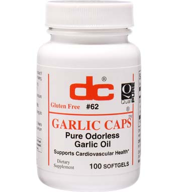 GARLIC CAPS PURE ODORLESS GARLIC OIL 1,000 MG