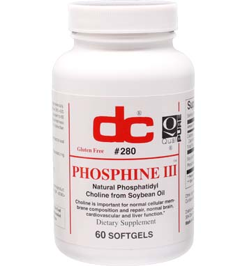 PHOSPHINE III Phosphatidyl Choline 420 MG Triple Strength Lecithin