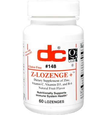 Z-LOZENGE+ Zinc, C, B-6 Royal Jelly and White Willow Bark Ext. Fruit Flavor